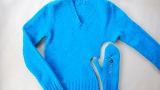 DIY: Make Mittens from Sweaters in Minutes