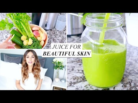 Video GREEN JUICE RECIPE FOR CLEAR SKIN | Annie Jaffrey