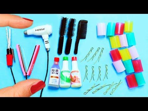 Cómo Hacer Productos de Peluquería en Miniatura - 10 manualidades fáciles para muñecas