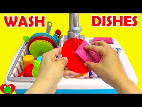 Learn Kitchen Utensils Washing Dishes and Magical Surprises