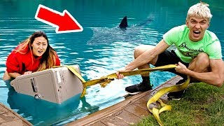 SAFE SUNK UNDERWATER!! 😱(POND MONSTER SIGHTING)