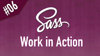 Sass بدأ العمل في ملف استايل لتعلم اللغة