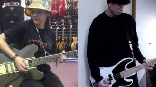 Angels And Airwaves Sirens bass and guitar cover collab