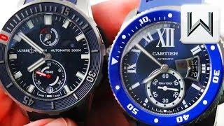 Cartier Calibre Diver Vs Ulysse Nardin Diver Chronometer  1183-170-3/93 WSCA0011