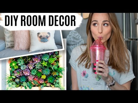 DIY ROOM DECOR | Jardín vertical & cojines con fotos
