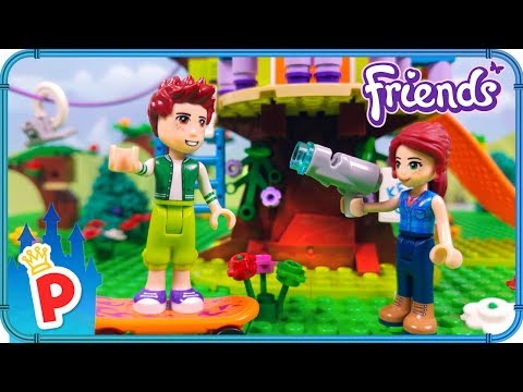 Lego Mia Builds Tree House With Daniel Lego Friends Stop Motion