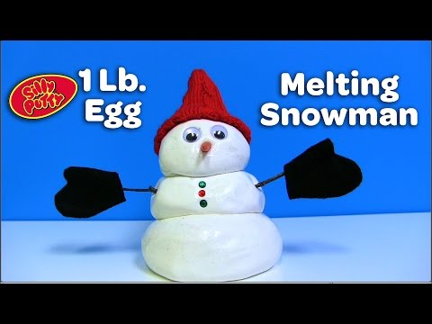 1 Lb. Silly Putty Egg - Melting Snowman
