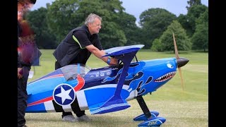 GIANT 55% RC PITTS CHALLENGER PITBULL MUSCLE BIPLANE DISPLAY - ROBBIE AT WESTON PARK - 2018