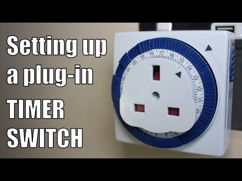 How to use a Plug-In Timer Switch - Setting up a Mechanical Timer Switch