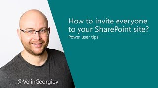 How to invite everyone to your SharePoint site
