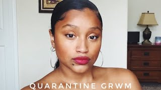 QUARANTINE GRWM | Natural Look For the Living Room