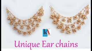 How to make bridal pearl champaswaralu design ||  3 steps chanpakaswaralu with loreals