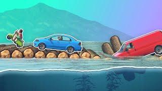 GTA 5 | Do WOOD LOGS work as a BRIDGE?