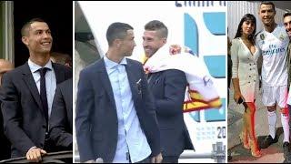Cristiano Ronaldo celebrate his 5 Cup UEFA after winning in Kiev vs Liverpool