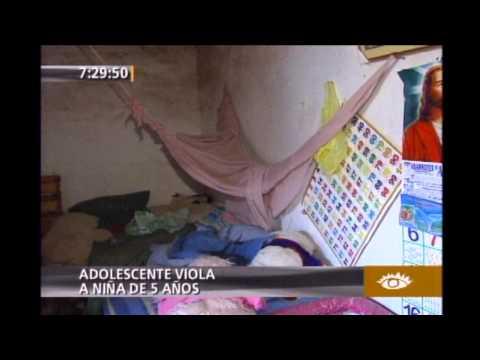 Adolescente viola a niña de 5 años