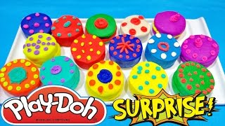 Play Doh Food Desserts Cookie Creations Surprise Toys Unboxing Playdough Videos For Children