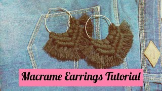 How To Make: Macrame Earring Tutorial|Easy| Boho Earrings| Handmade Earrings