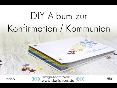 DIY Album für Kommunion / Konfirmation