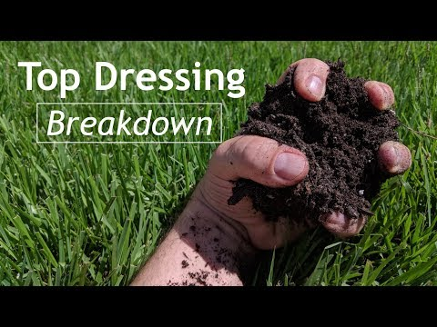 Leveling TOP DRESSING Low Spots in Lawn   Topsoil or Sand or Both for Leveling LAA25