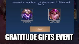 gratitude gifts event claimed all draw chance