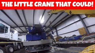 Little crane working on a big crane - Broderson carry deck