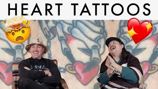 HEART TATTOOS And HEARTBREAK. TATTOOS Of HEARTS And The Stories Behind Them.