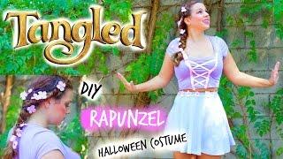 DIY RAPUNZEL TANGLED Halloween Costume For Teen Girls ♡ + Hair & Makeup Tutorial!