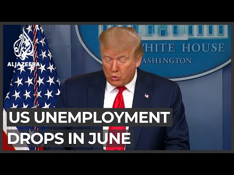 US unemployment drops in June - five million people back at work