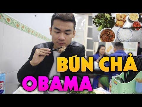 Quang Cuốn Lần Đầu Ăn Bún Chả Obama Ngon Không Tả Nổi !