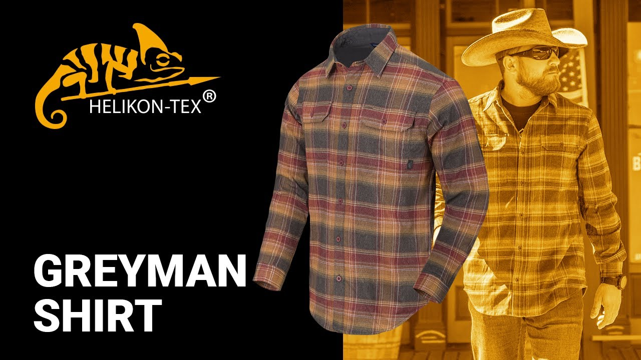 Helikon-Tex GreyMan Shirt Blue Stonework Plaid