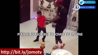 Mr P. Psquare's Son Defeated Peter Okoye In Dance Competition