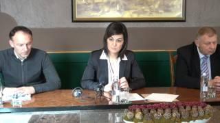 Novinarska konferenca o predlogu proračuna