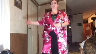 AliExpress review: Flowered Satin Robes for Bridal Party Photos