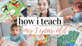 HOW TO TEACH YOUR 1 YEAR OLD TO TALK | TEACHING MY TODDLER | DITL OF A STAY AT HOME MOM 2019