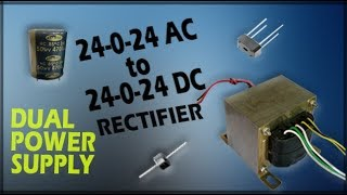 How To Get 24-0-24 Dc Power Supply From Transformer .