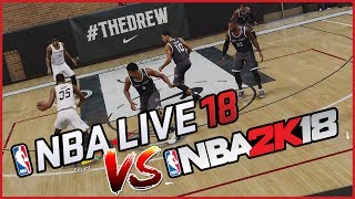 NBA LIVE 18 VS NBA 2K18! CAN NBA LIVE 18 COMPETE?  - NBA Live 18 Drew League Gameplay
