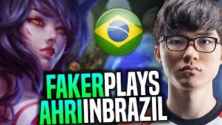 Faker Picks Ahri In Brazil SoloQ! - SKT T1 Faker SoloQ Playing Ahri in Brazil MSI Bootcamp | Faker