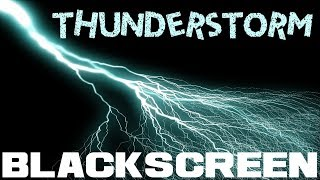 Thunderstorm Black Screen with Rain Thunder and a bit of Wind Rain and Thunder Sounds for Relaxation