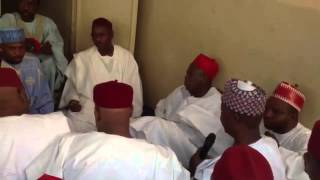 preview picture of video 'Dep Gov Ganduje a Ta'aziyyar  Malam Abubakar Allah jikansa'