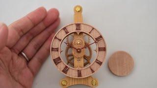 木時計-mini-木の歯車で作る振り子時計木時計工房