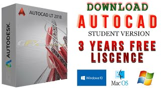 How to Download and Install AutoCAD 2020 (Student Version) Free Licence for 3 Years.