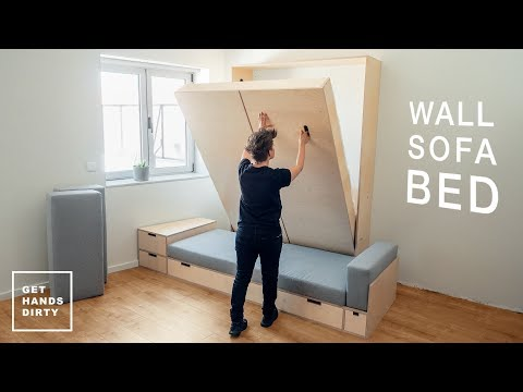 How to make a Wall Sofa Bed System: The Murphy Bed // Tiny Apartment Build - Ep.5