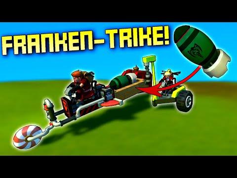 CO-OP Franken-Trike Nuke Transport Challenge!  - Scrap Mechanic Multiplayer
