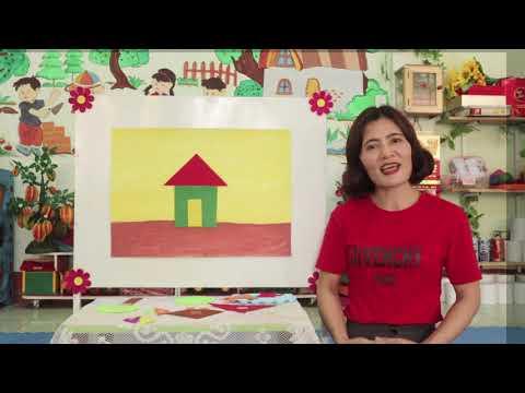 Hướng dẫn trẻ chắp ghép các hình học tạo thành hình mới - Trường MN Đồng Sơn - Đồng Hới - Quảng Bình