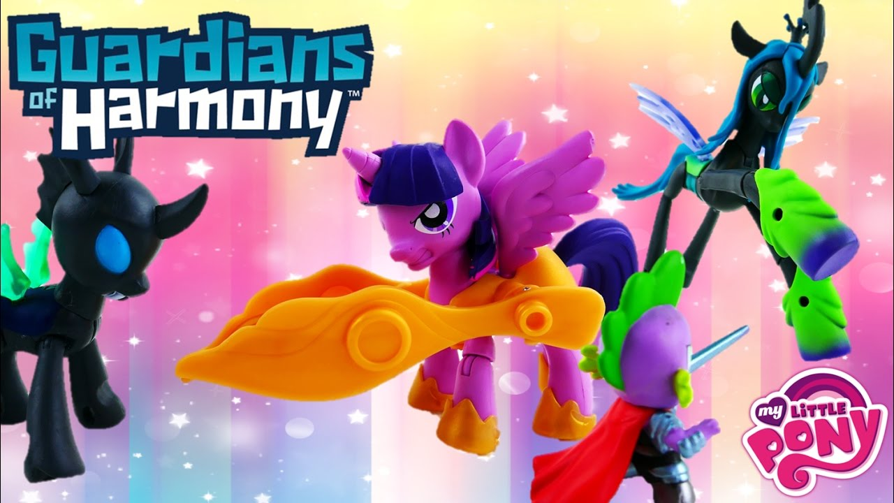 My Little Pony Guardians of Harmony Queen Chrysalis Spike Twilight Sparkle and Changling Toy