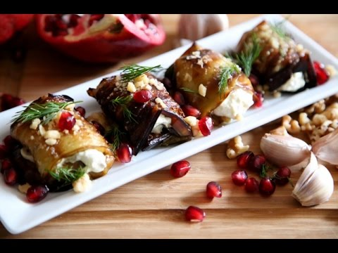 The Best Rolled Eggplant Salad Recipe - Armenian Cuisine - Heghineh Cooking Show