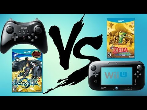 Wii U Gamepad vs Wii U Pro Controller with MY Favorite Games!