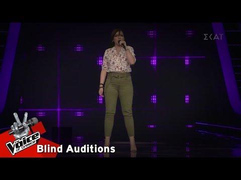 Γιαννούλα Στράτη - Without Me   8o Blind Audition   The Voice of Greece