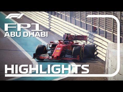 【F1 FP1ハイライト動画】F1 2019 第21戦アブダビGP フリープラクティス1