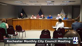 Rochester City Council Meeting - 6-25-19